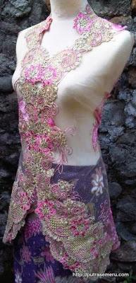 Kebaya Modern Pink Wire