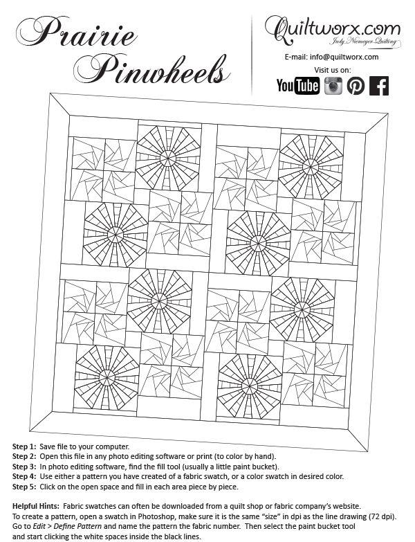 Prairie Pinwheels Quilt Block PatternsQuilt BlocksPattern DesignPinwheelsKnit CrochetColoring