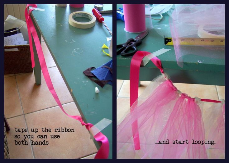 DIY Tutu Skirt - will fit your child at any age.....or make a cut baby shower gift/decoration.