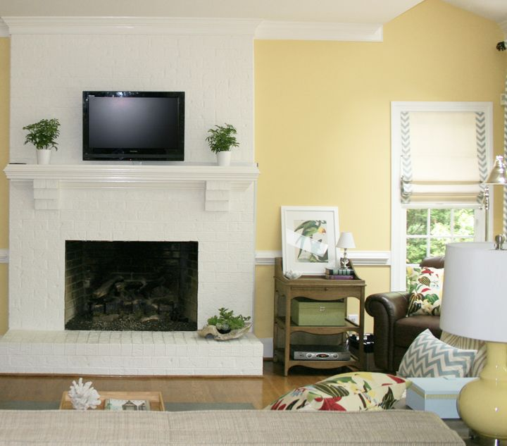 35 best white brick fireplaces images on Pinterest | Home ideas ...