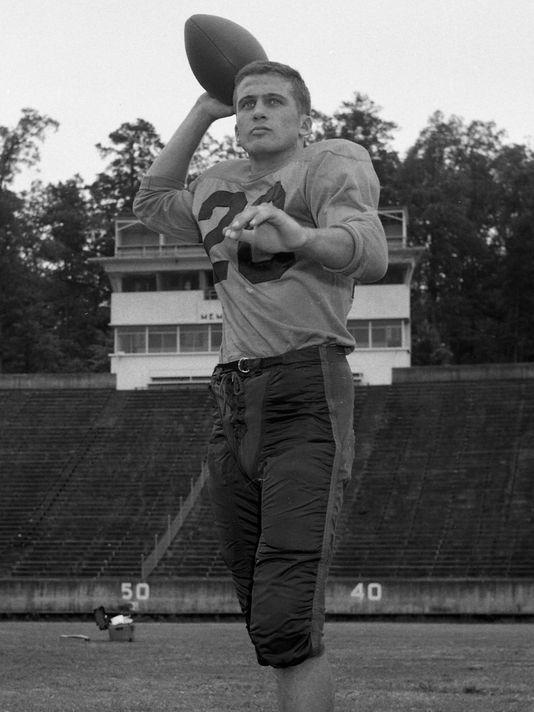 Clemson quarterback Charlie Bussey (1955)