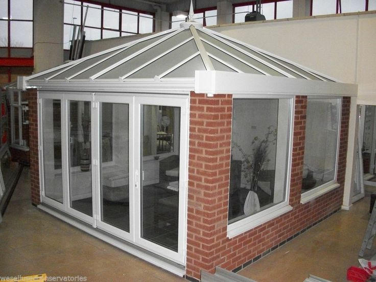 Ex Display Upvc Orangery Conservatory 4220 x 4100 Glass Roof & Bi Folding Doors