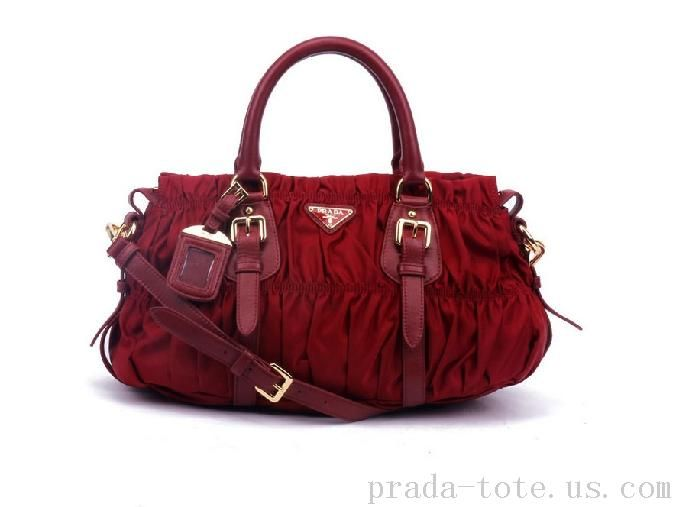 Discount #Prada BN1407 Handbags in Crimson onnline sale