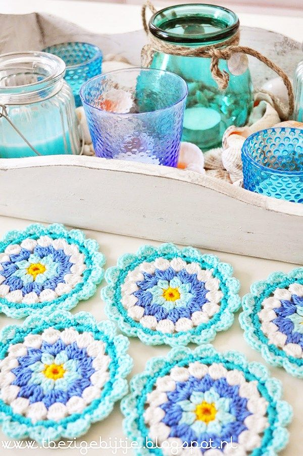 51 Best Crochet Coasters And Mug Cozies Images On Pinterest