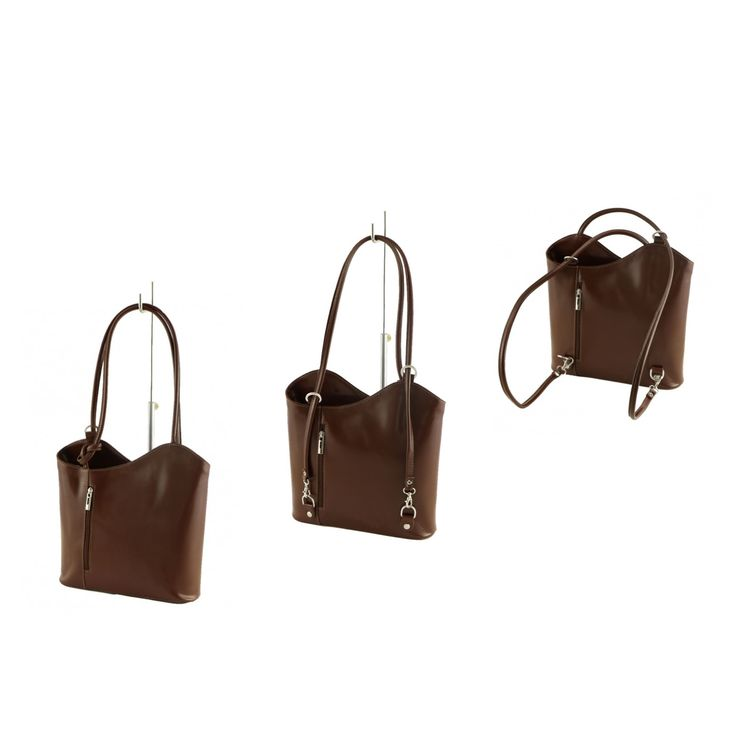 Borsa a spalla ma trasformabile anche in un comodo zainetto - Leather shoulder bag converts info a comfortable backpack! #backpack #zaino #borsainpelle #madeinitaly #serendipityshopping