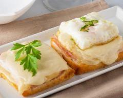 croque oeuf sur le plat et fromage