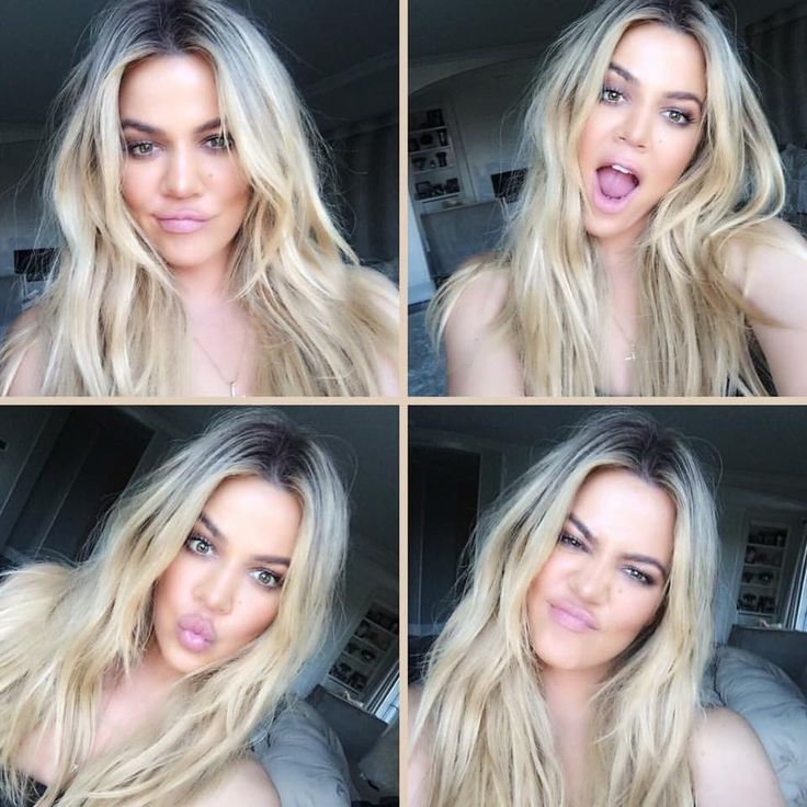 Khloe Kardashian Blonde Balayage