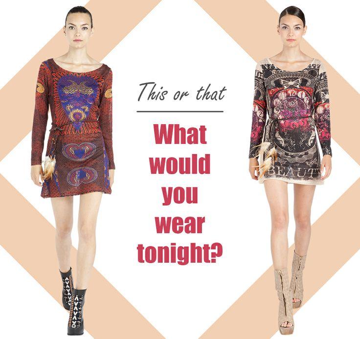 What would you wear tonight? ¿Qué te pondrías esta noche?  www.custo.com