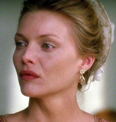 Michelle Pfeiffer as Madame de Tourvel in the movie Dangerous Liaisons.