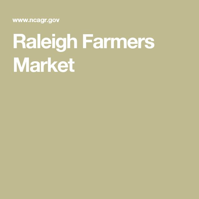 Raleigh Farmers Market