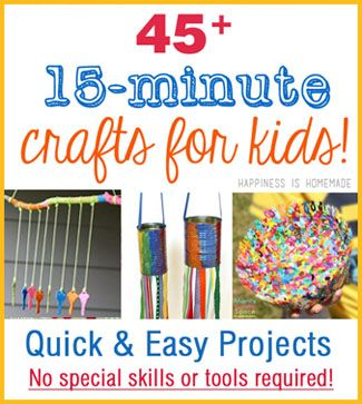 AWESOME & QUICK - using stuff we already have! Quick and Easy Kids Crafts That ANYONE Can Make