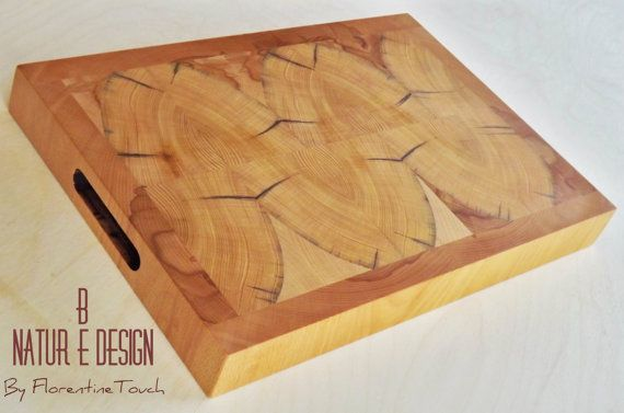 Cutting/Serving Board, in recycled Old Chianti Cypress and Beech of Casentino Forest Tuscany, mosaic pattern, Rustic Kitchen, Wedding Gift