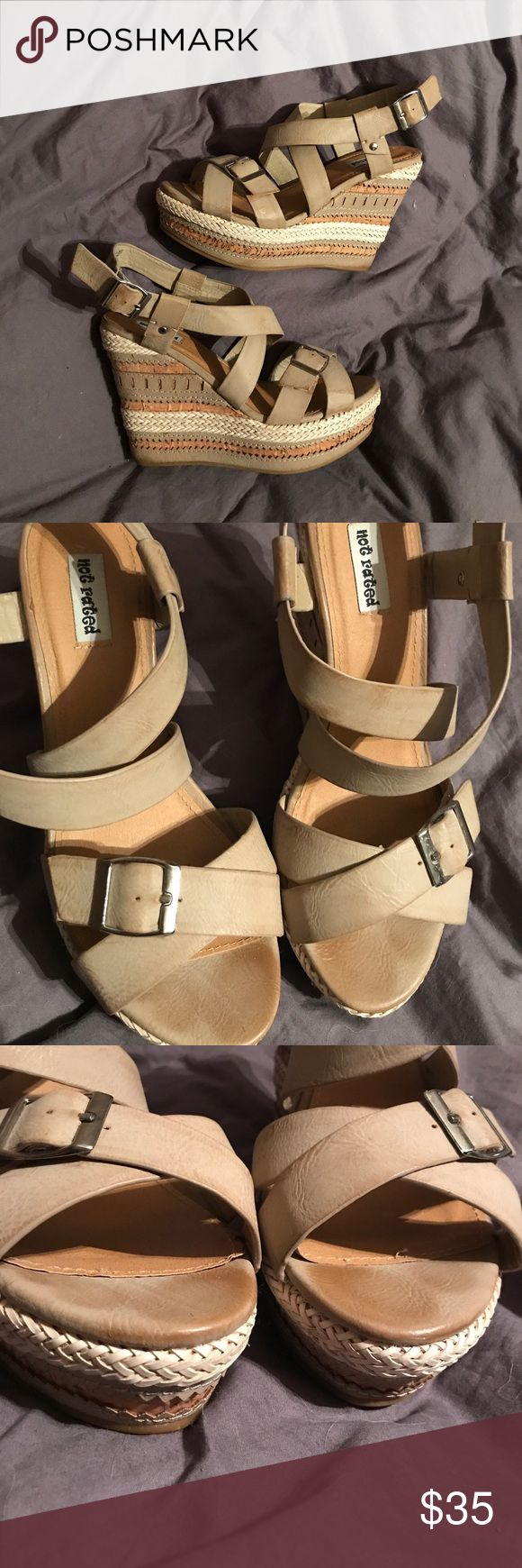 Not Rated Nude Wedges - size 8.5 Not Rated Nude Wedges - size 8.5. Worn twice!! Excellent condition!! No flaws :) Shoes Wedges