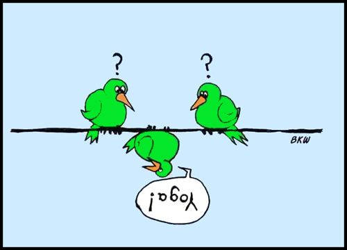 Yoga Joke Cartoon: Yoga Birds (yoga fun, humour & laughter) .... #yogafun #yogacartoon #yogahumour #yoga #om #yogahumor