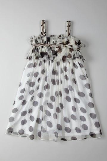 Mocha Circular Print Dress