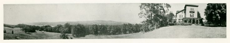 Panoramic view of the southern end of Springwood prior to the 1916 addition..♥❃❋✽✾❀❃ ♥     http://en.wikipedia.org/wiki/Hyde_Park,_New_York    http://www.fdrlibrary.marist.edu/education/resources/biographies.html