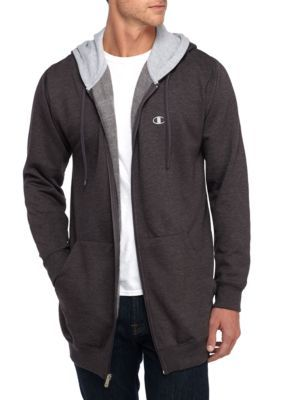 Champion Men's Big & Tall Fleece Hoodie - Charcoal/ Heather - 5Xlarge Long Or Tall Or Large
