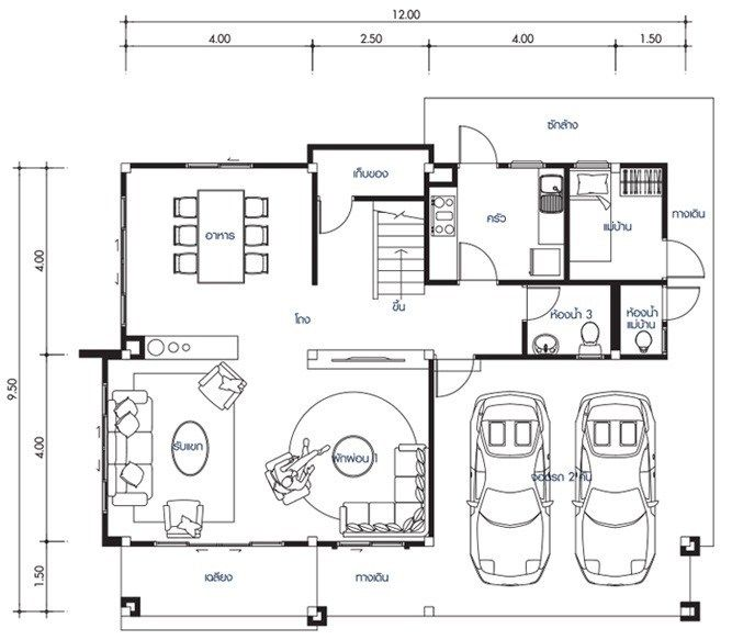 House Design Plan 12x9 5m With 4 Bedrooms Home Design With Plansearch Home Design Plans Duplex House Design 4 Bedroom House Designs