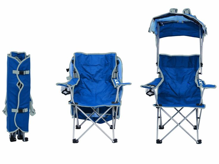 Folding Kids Canopy Chair. Adjustable sunshade with 50+ UPF protection. Lightweight, weighs only 6 lbs. Perfect for camps and sporting events. See more at http://www.webnuggetz.com/toddler-camping-chair/
