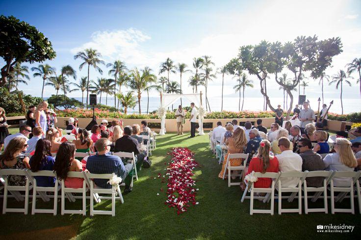Hyatt Regency Maui Wedding Setup By Hawaiian Style Event Rentals Hawaiianrents