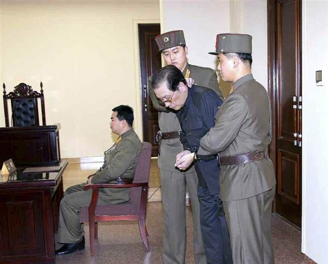 Kim Jong-un's uncle being executed for treason against the regime for having…