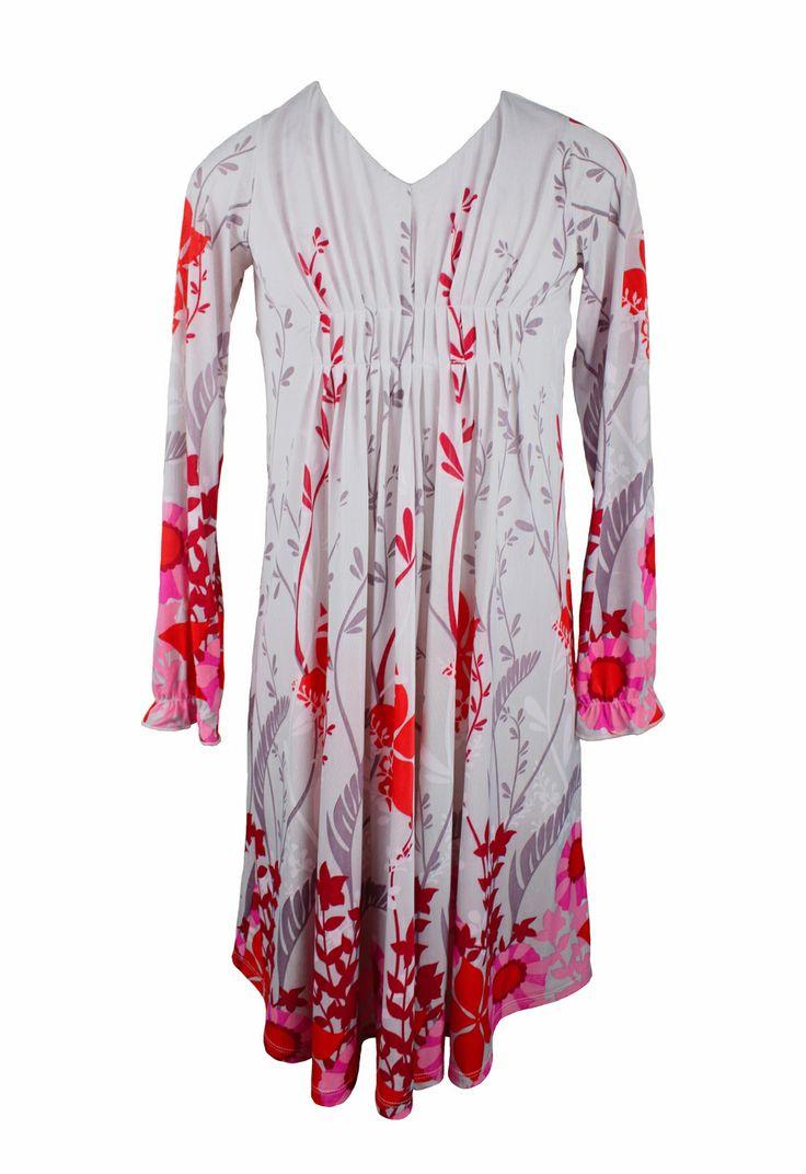 One Red Fly Flower Border Knit Dress www.joeetween.com.au
