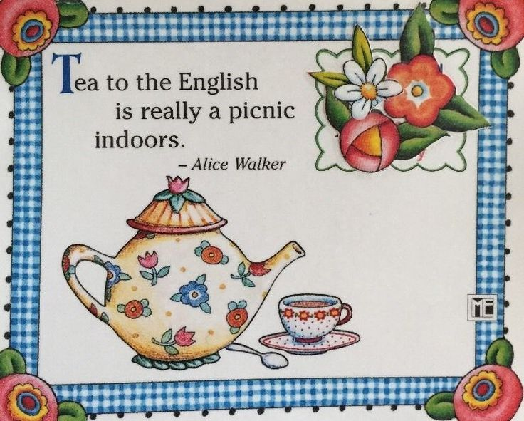Tea To The English-Handmade Fridge Magnet