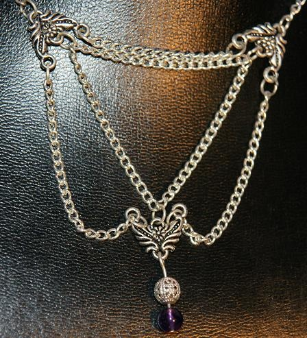 Tri-Chain necklace http://www.mariannedepierres.com/store-2/store-2/