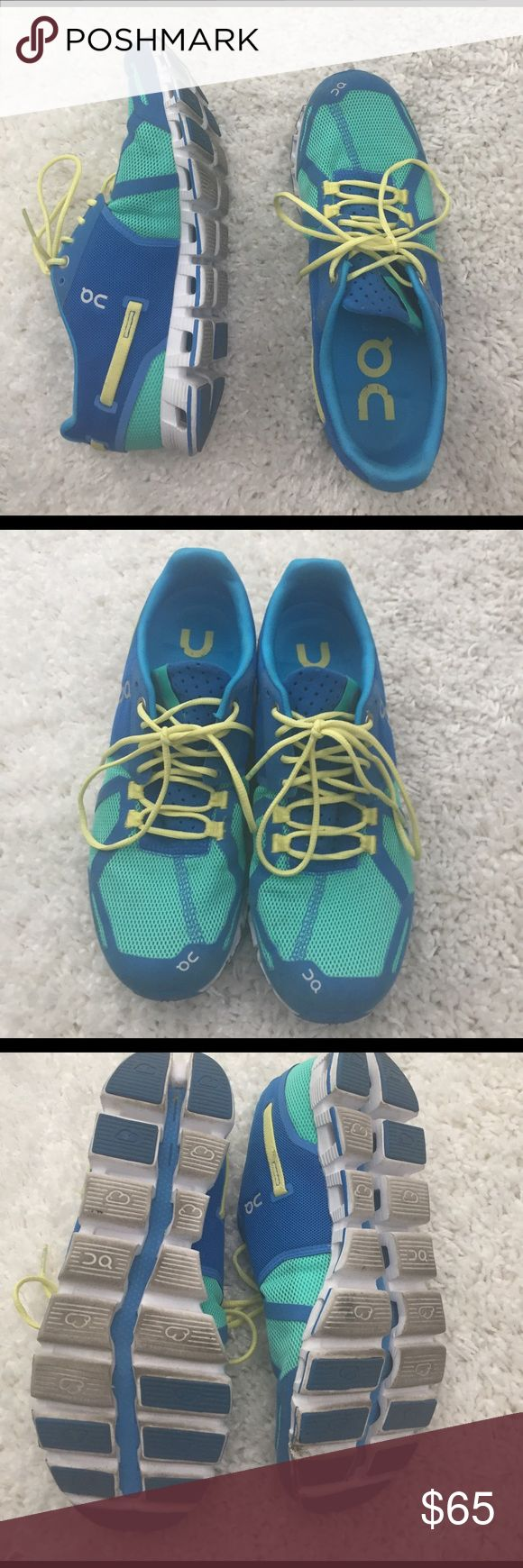 On cloud Swiss running shoes On cloud Swiss brand running shoes size 8.5. Worn 3-5 times. Some dirt on soles but still in great condition overall On running Shoes Athletic Shoes