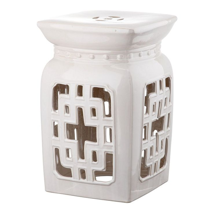 Outdoor Safavieh Filigree Ceramic Garden Stool, White