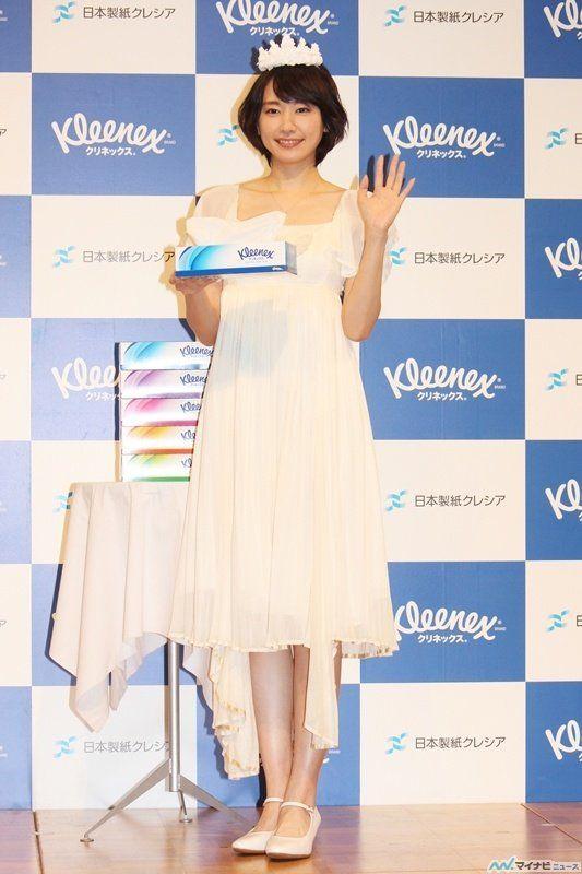 女優の新垣結衣が18日、都内で行われたティシューペーパーブランド「クリネックス」の新ブランド・新CM発表会に出席した。
