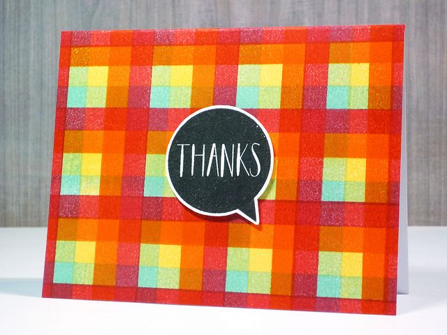 Plaid Stamping by *茵~, via Flickr
