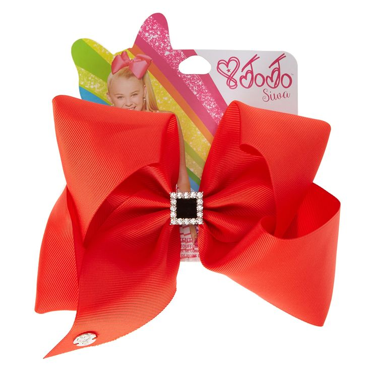 <P>Here at Claire's JoJo Siwa is our favorite little dancer! And we love her bows! This special one if designed specifically for the holidays. This Christmas red bow features a black velvet center with a crystal lining! It's the perfect accessory for you school Christmas party!</P><P><STRONG>Hair bow</STRONG> by <STRONG>JoJo Siwa©</STRONG></P...