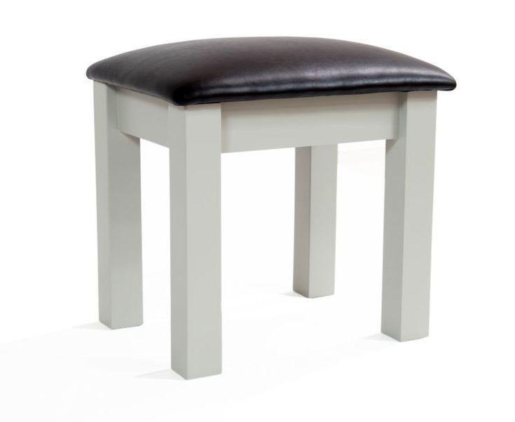 Saddington Dressing Table Stool All Grey  The Saddington Grey Dressing Table Stool complements the Saddington Grey Single Pedestal Dressing Table.  https://www.bonsoni.com/saddington-dressing-table-stool-all-grey
