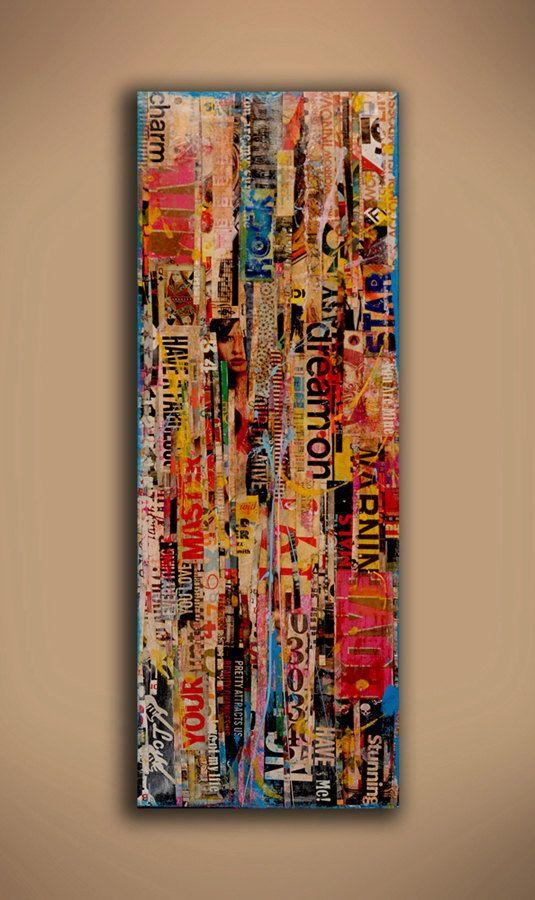 ORIGINAL Abstract Painting ----BTW, Please Visit: http://artcaffeine.imobileappsys.com