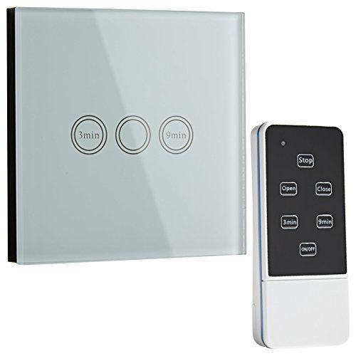 Biard LED Blanc résistant aux rayures Verre en cristal murale contrôlée par télécommande 1Gang interrupteur tactile avec indicateur à LED…