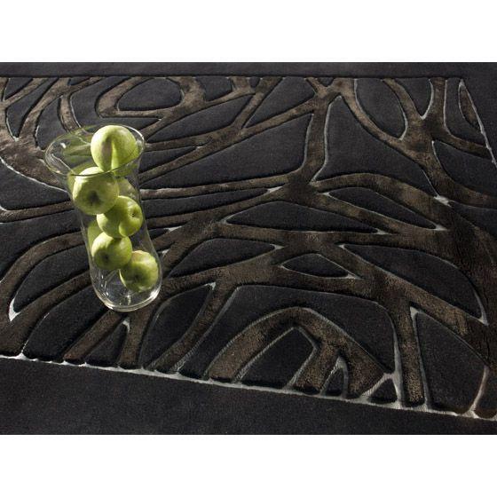 Купить черный ковер с узорами THEA. #carpet #carpets #rugs #rug #interior #designer #ковер #ковры #дизайн  #marqis