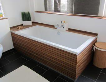 Badewannenverkleidung und Waschtisch aus Bootsparkett / Teak Waschtisch,Badewanne,Teakholz,Badewannenverkleidung,Bootsparkett,Bad renovieren