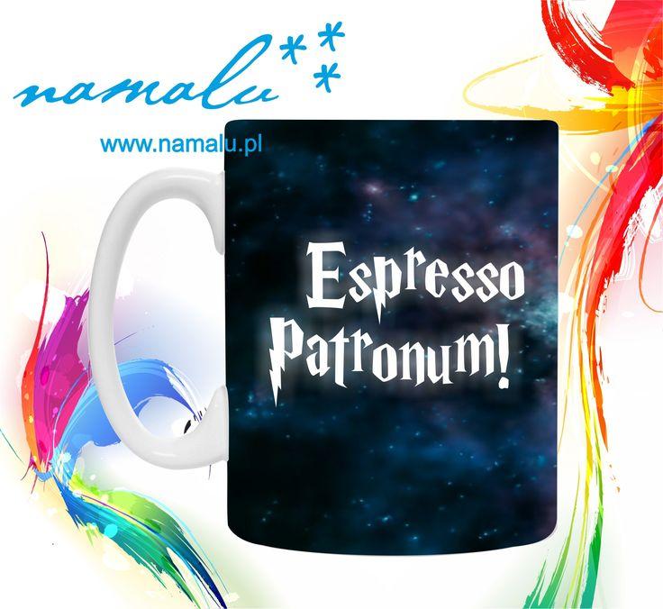 http://namalu.pl/kubki/320-kubek-espresso-patronum.html  Kubek mug espresso patronum funny gift PREZENT śmieszny fajny HARRY POTTER patronus kawa coffee cafe