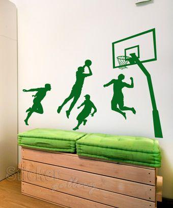 Εφηβικά και Παιδικά Αυτοκόλλητα Τοίχου - Basketball Players 08 - διακόσμηση παιδικού δωματίου με wall stickers
