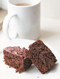 Chocolate and beetroot brownies