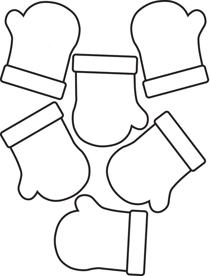 Mittens Coloring Pages Free printables