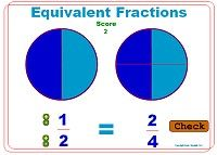 Fraction Games - Equivalent Fractions