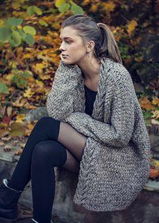 Dreamy Weave Cardigan by Katrine Hammer | Two strands, basketweave stitch