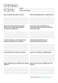 This #writing worksheet can help your character make an entrance and set the scene.