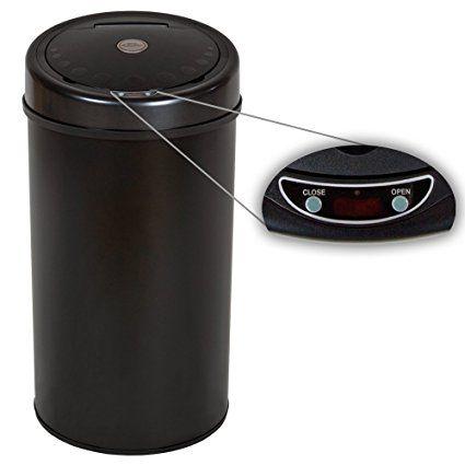 TecTake Poubelle automatique en acier inoxydable de cuisine 50L panier noir: Amazon.fr: Cuisine & Maison