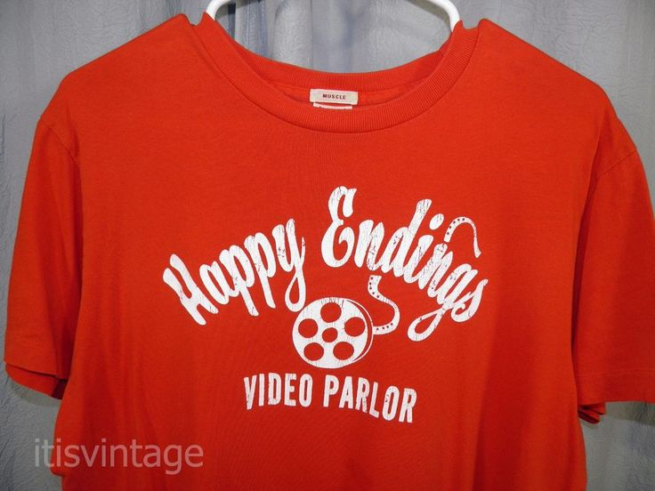 Vintage Happy Endings Video Parlor Abercrombie & Fitch Film Reel Cotton Shirt XL | Clothing, Shoes & Accessories, Men's Clothing, T-Shirts | eBay!