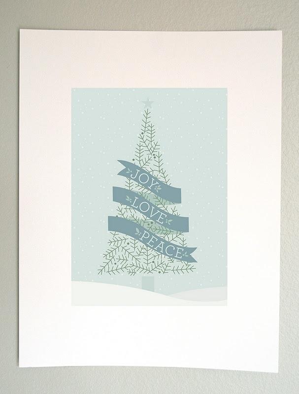 Christmas Wall Decoration Printables : Holiday wall art to print and display free christmas