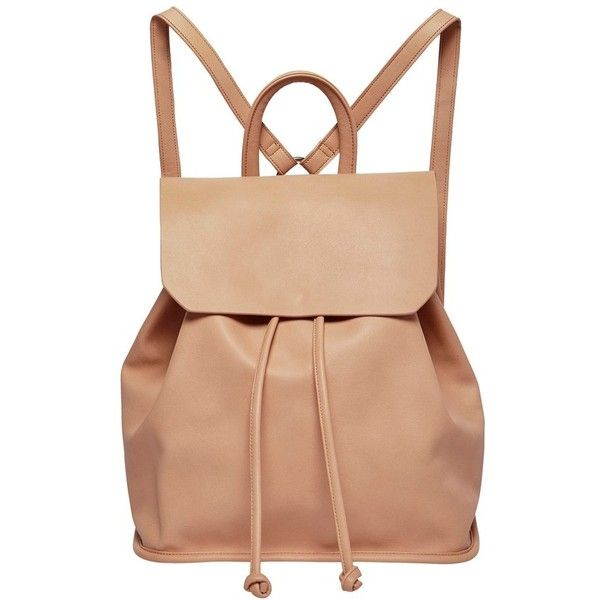 Women's Urban Originals Midnight Faux Leather Flap Backpack ($88) ❤ liked on Polyvore featuring bags, backpacks, pink, vegan backpack, fake leather backpack, faux leather bag, beige backpack and flap backpack