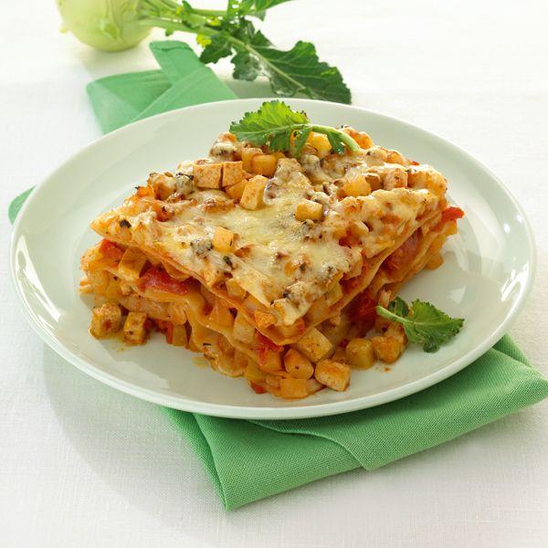 Lasagne met koolrabi en tofu #WeightWatchers #WWrecept #vega